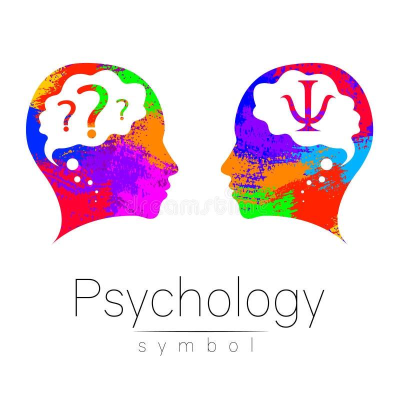 Современный головной знак логотипа психологии Человек профиля Письмо Psi Творческий тип Символ в векторе Идея проекта разветвляя бесплатная иллюстрация