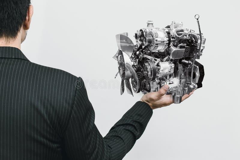 Современный двигатель автомобиля малое Eco и легковес стоковая фотография rf