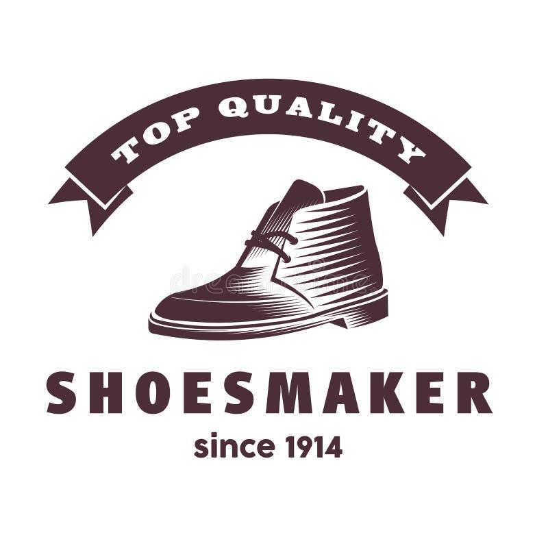 Современный дизайн логотипа ботинка Иллюстрация вектора конспекта ботинка людей бесплатная иллюстрация