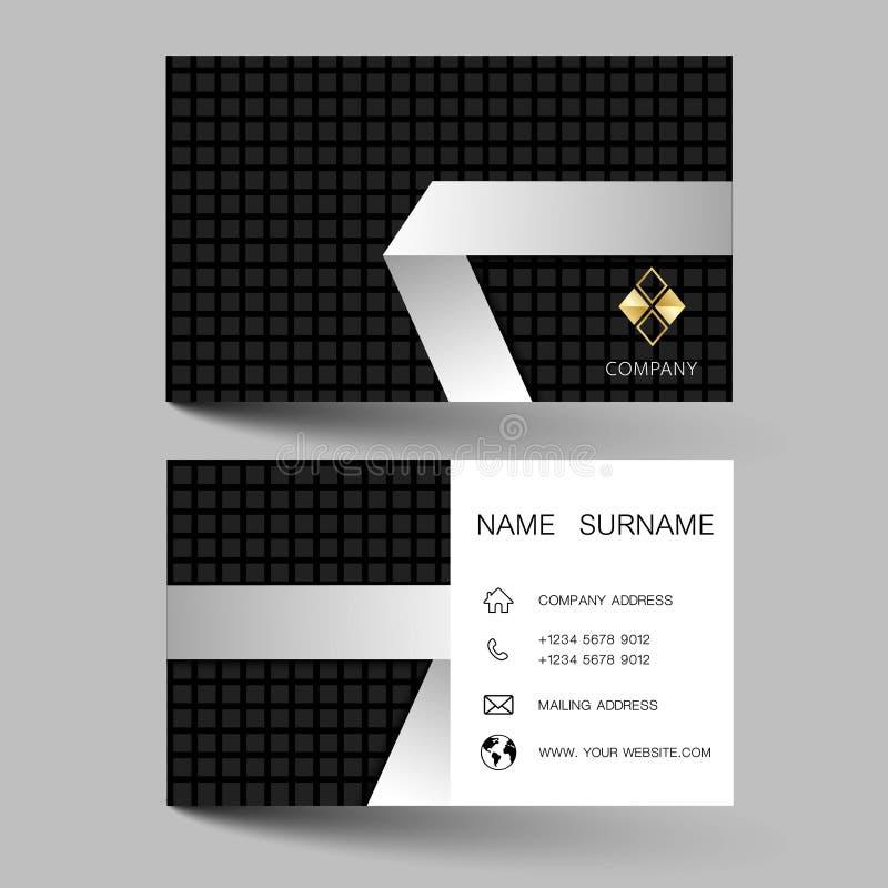 Современный дизайн шаблона визитной карточки С воодушевленностью от конспекта стоковые фотографии rf