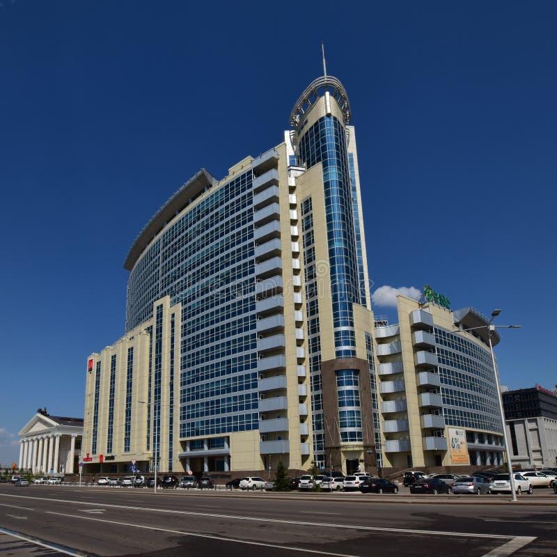 Современный деловый центр в Астане стоковая фотография rf