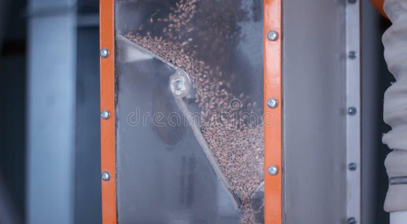 Современный завод для меля зерна в муку для делать продукцию хлеба, муки и зерна, breadstuff, конец-вверх стоковое фото