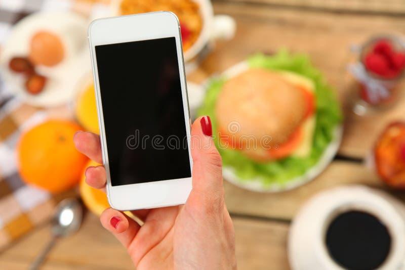 Современный завтрак стоковое изображение
