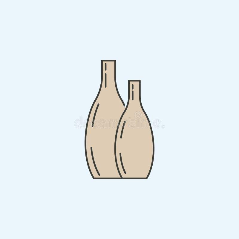 современный значок вазы Элемент значка домашнего хозяйства для мобильных приложений концепции и сети Покрашенный современный знач бесплатная иллюстрация
