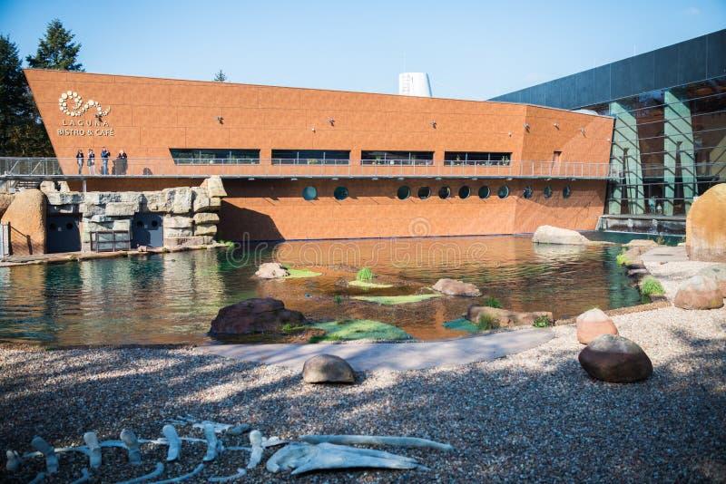 современный зоопарк стилизованный к Африке стоковые фото