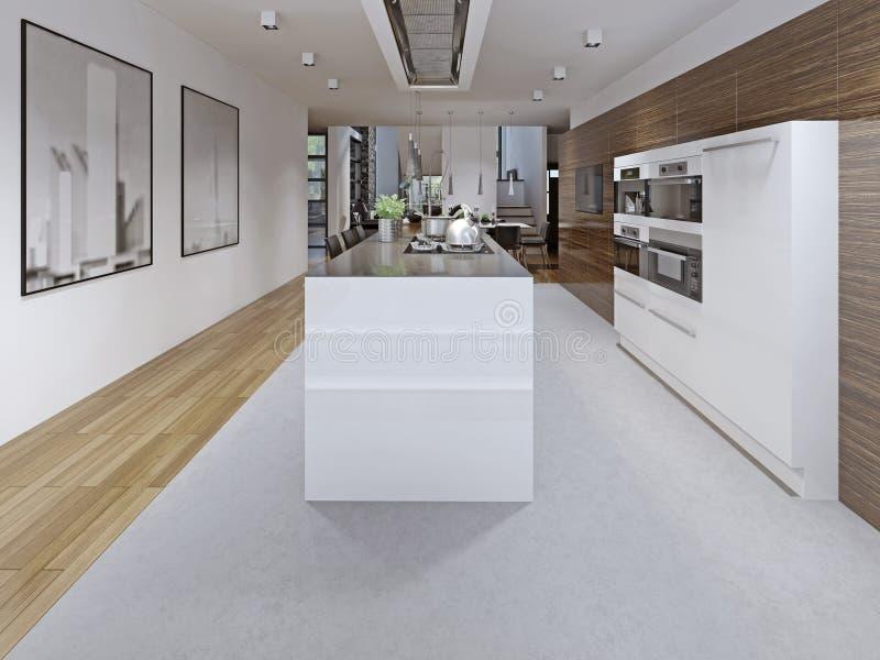 Современный дизайн кухни стоковое изображение