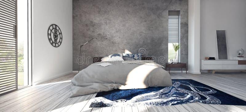 Современный дизайн спальни стоковые фотографии rf