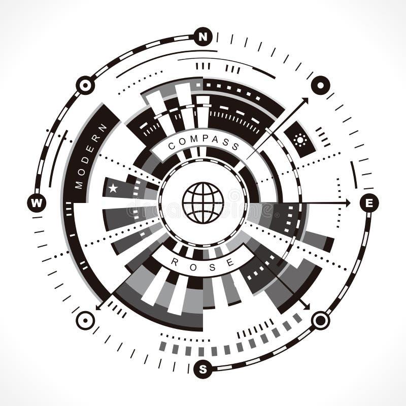 Современный лимб картушки компаса бесплатная иллюстрация