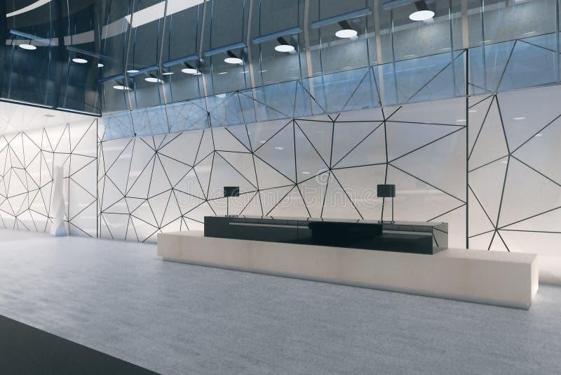 Современный интерьер офиса с приемом иллюстрация штока