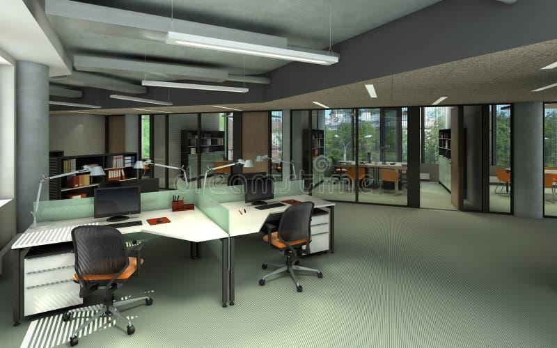 Современный интерьер офиса бесплатная иллюстрация