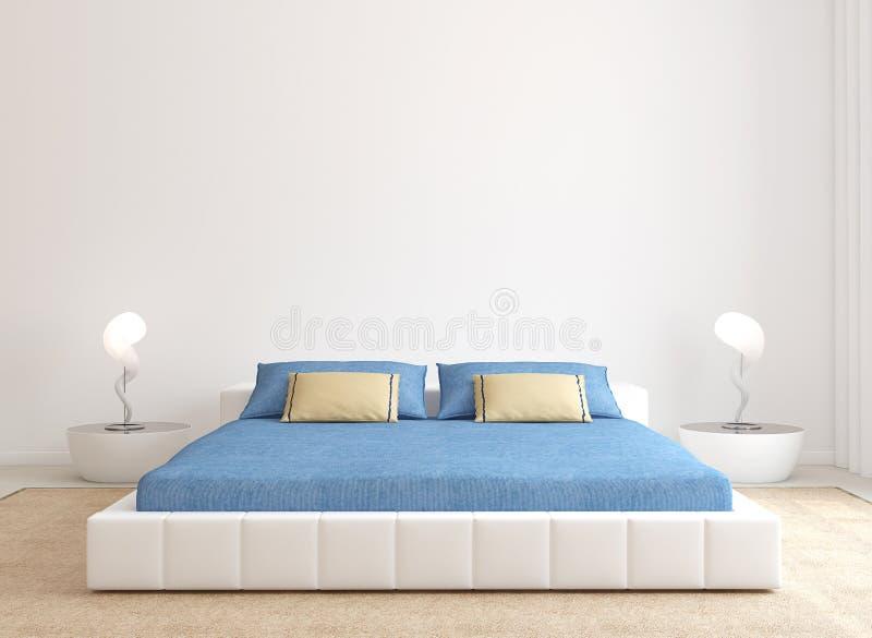 Современный интерьер спальни. иллюстрация вектора