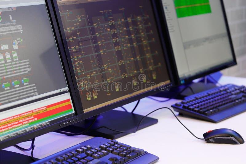 Современный диспетчерский пункт стоковая фотография rf