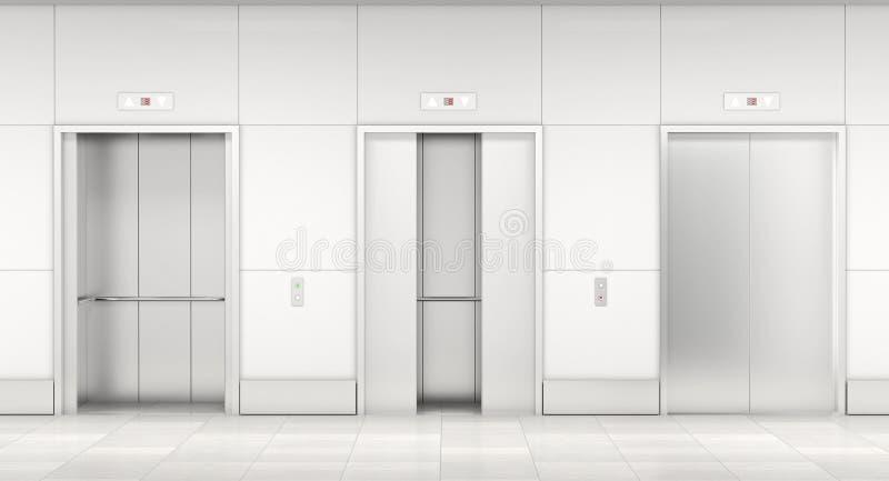 Современный лифт 3d бесплатная иллюстрация