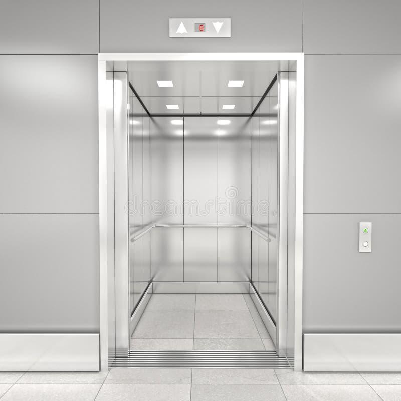 Современный лифт 3d иллюстрация вектора