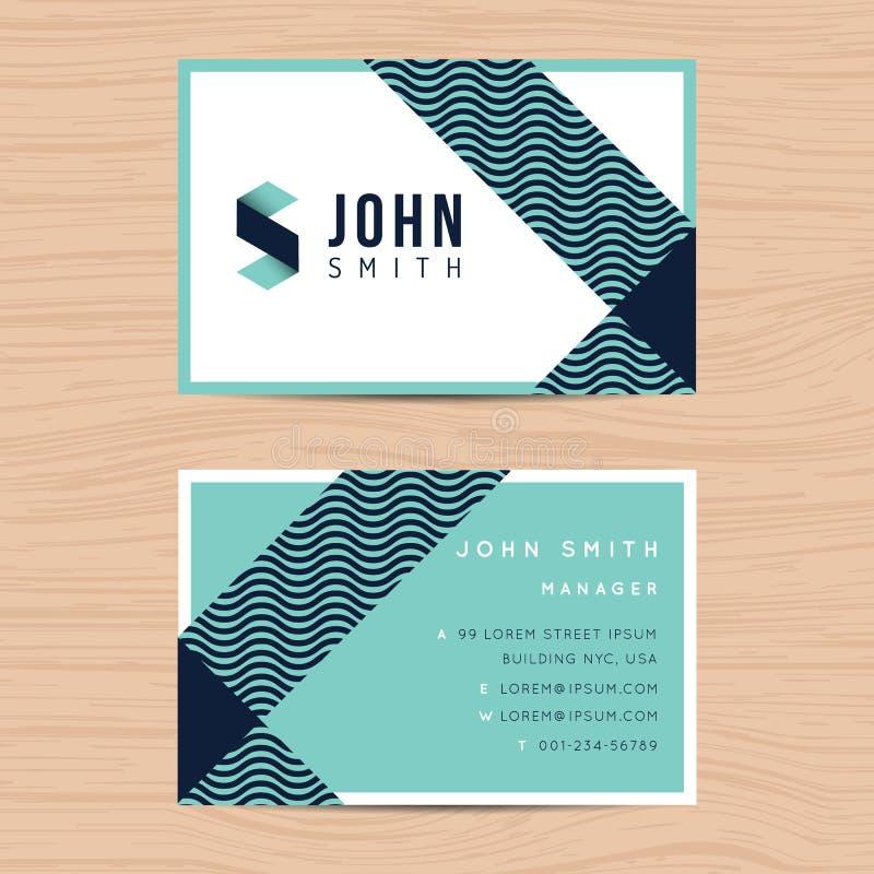 Современный и чистый шаблон визитной карточки дизайна в абстрактной предпосылке Печатать шаблон дизайна иллюстрация штока