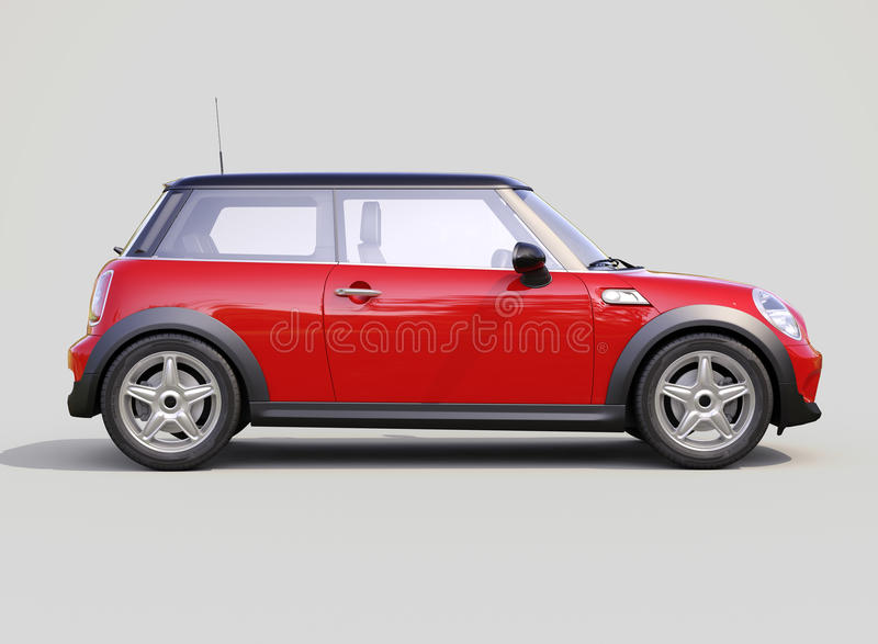 Современный компактный автомобиль стоковое изображение