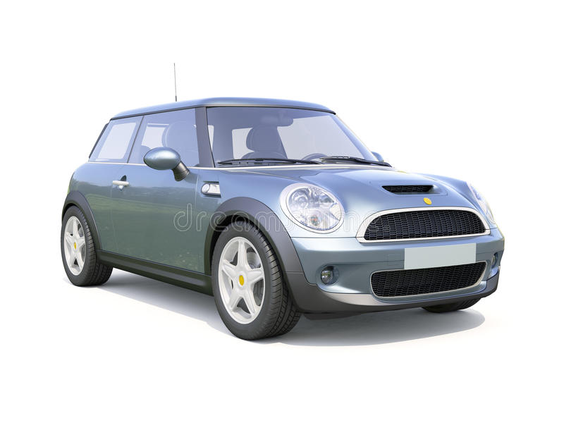 Современный компактный автомобиль стоковое фото rf