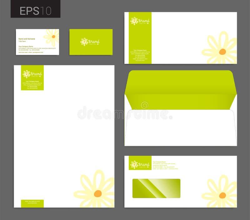 Современный комплект канцелярских принадлежностей в формате вектора, letterhead, автомобиле дела иллюстрация штока
