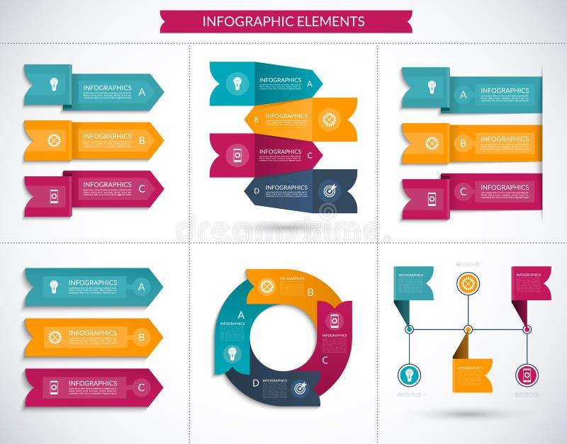 Современный комплект элементов дела вектора infographic бесплатная иллюстрация