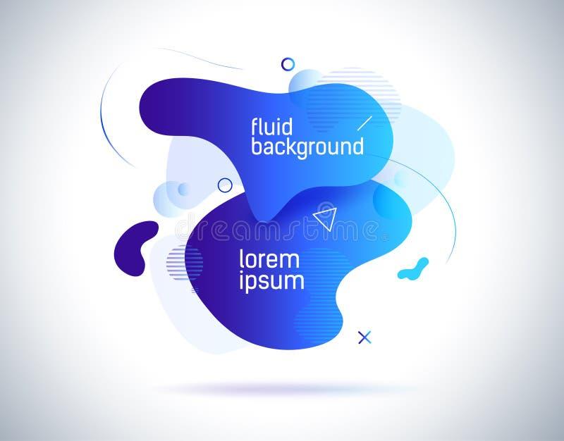 Современный красочный плакат подачи Форма волны жидкостная в предпосылке цвета Иллюстрация дизайна искусства ультрамодного вектор бесплатная иллюстрация