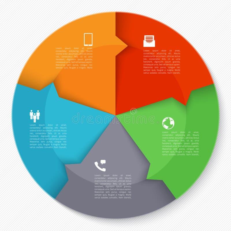 Современный круг infographics дела бесплатная иллюстрация
