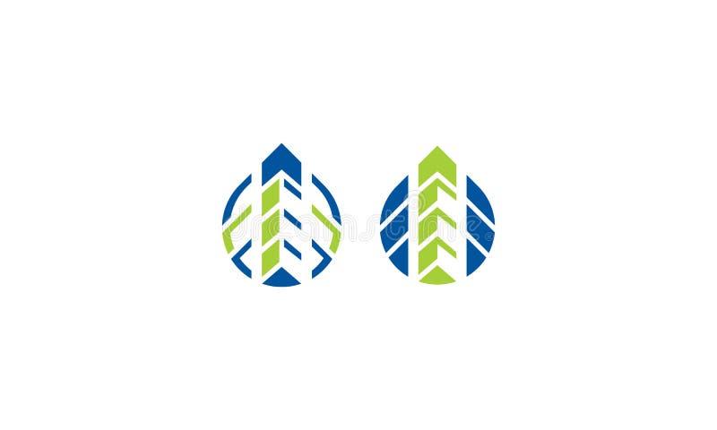 Современный логотип вектора горизонта здания eco бесплатная иллюстрация