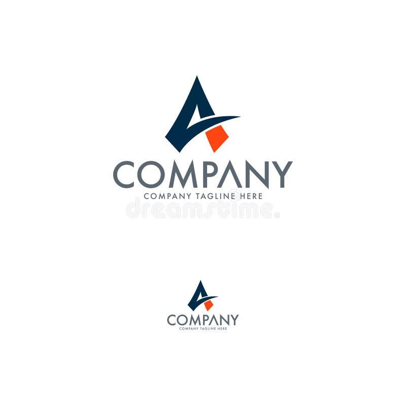 Современный логотип письма a Элита и современный логотип Помечать буквами вектор дизайна логотипа иллюстрация штока