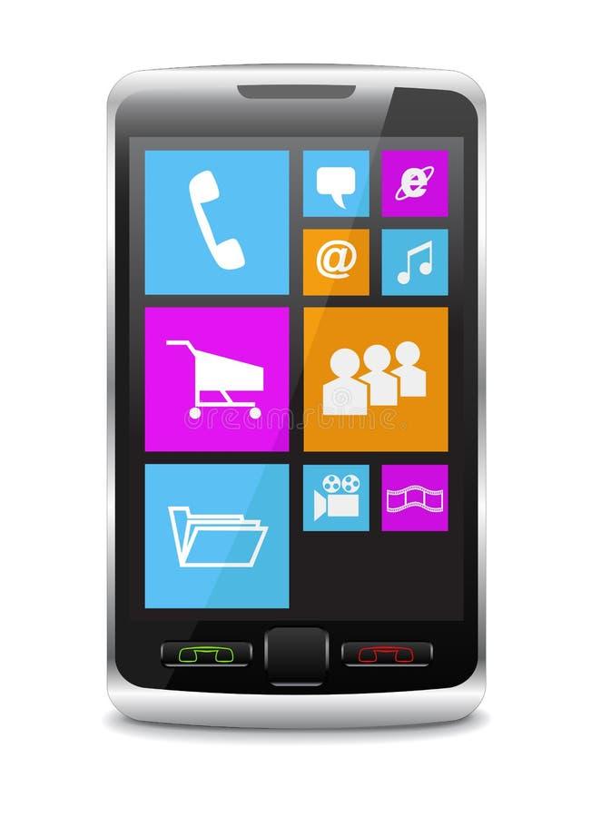 Современный мобильный телефон. бесплатная иллюстрация