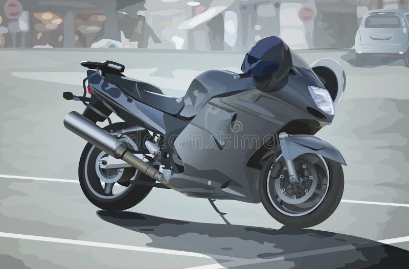 Современный мотоцикл спорта иллюстрация штока