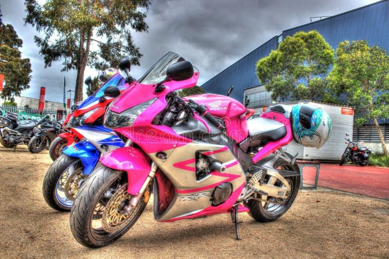 Современный мотоцикл Honda японца стоковое фото rf