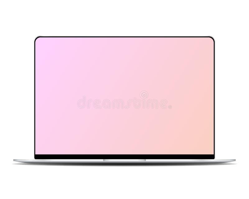 Современный ноутбук 2019 иллюстрация вектора