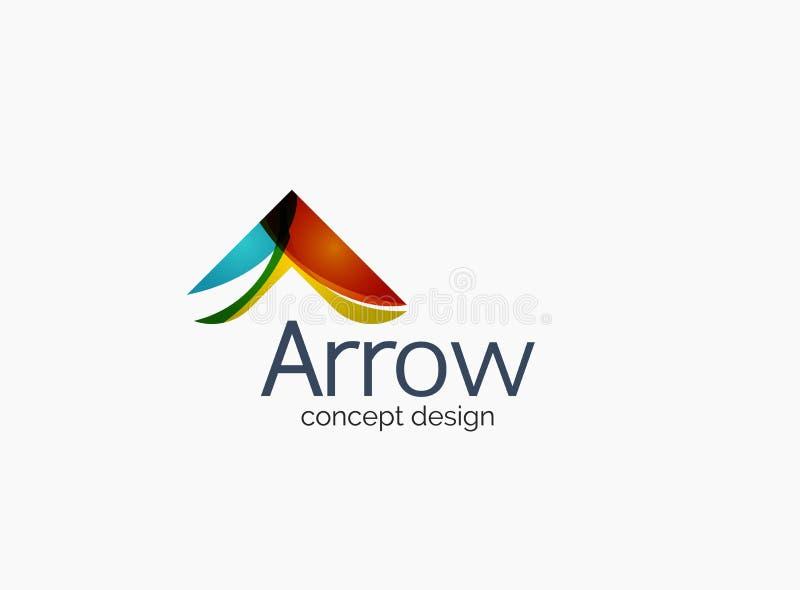Современный логотип компании, чистый лоснистый дизайн бесплатная иллюстрация