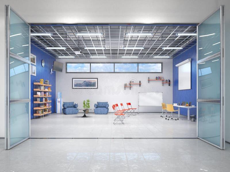 Современный офис, интерьер лекционного зала стоковое изображение