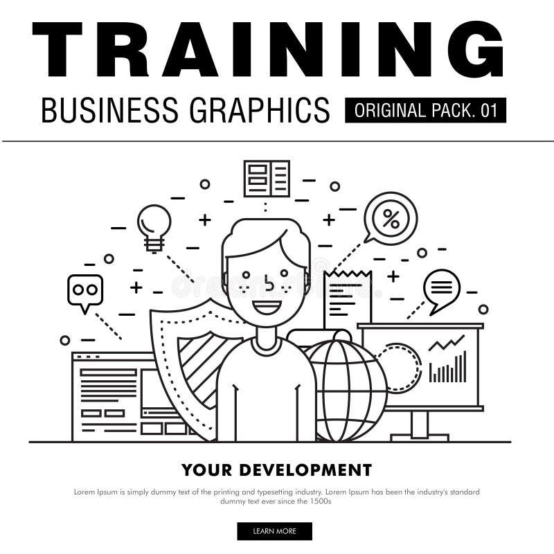 Современный пакет тренировки дела иллюстрация вектора