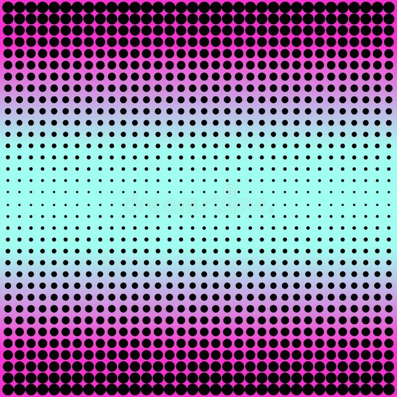 Современный пинк градиента к неоновой голубой предпосылке с точками в стиле 80s 90s бесплатная иллюстрация