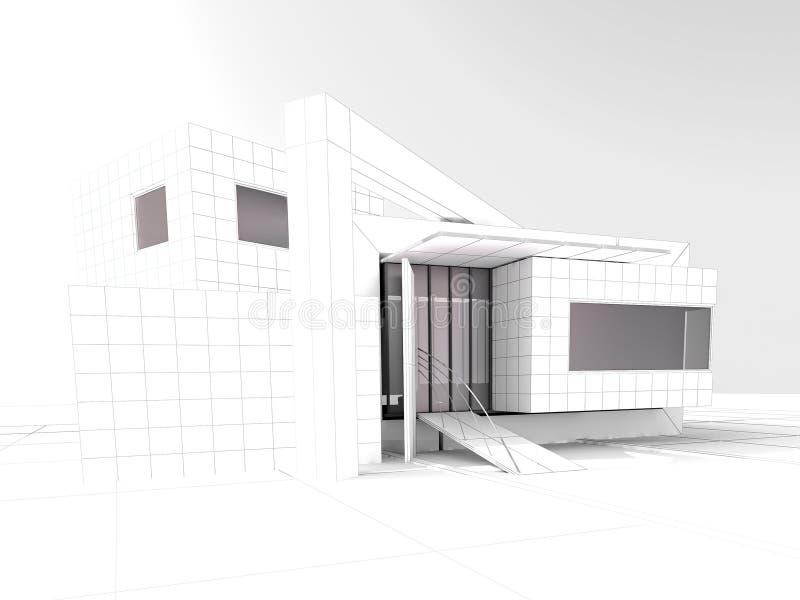 Современный проект архитектуры просторной квартиры бесплатная иллюстрация
