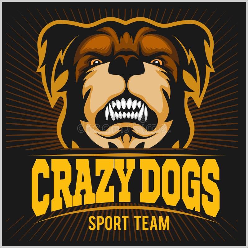 Современный профессиональный логотип для команды спорта Талисман бульдога иллюстрация вектора