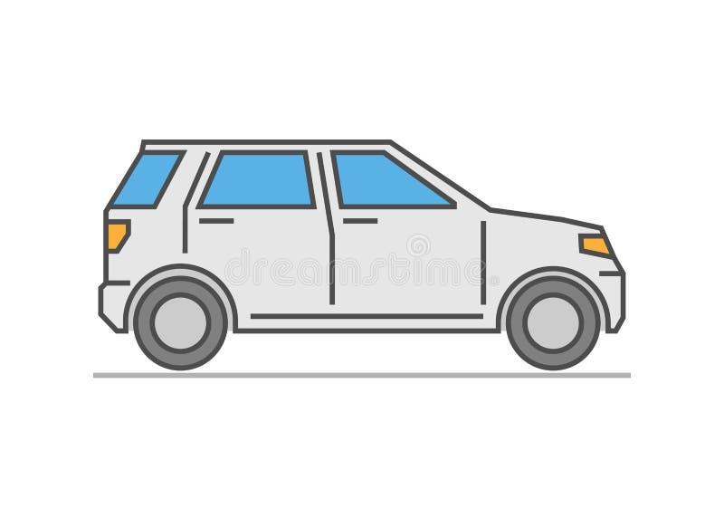 Современный плоский автомобиль значка бесплатная иллюстрация