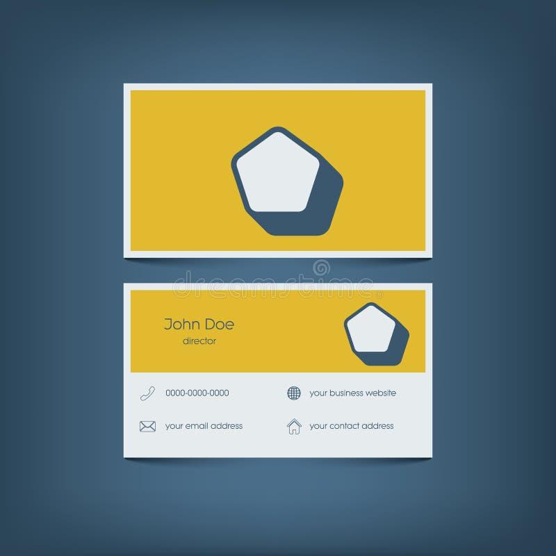 Современный плоский шаблон визитной карточки дизайна график бесплатная иллюстрация