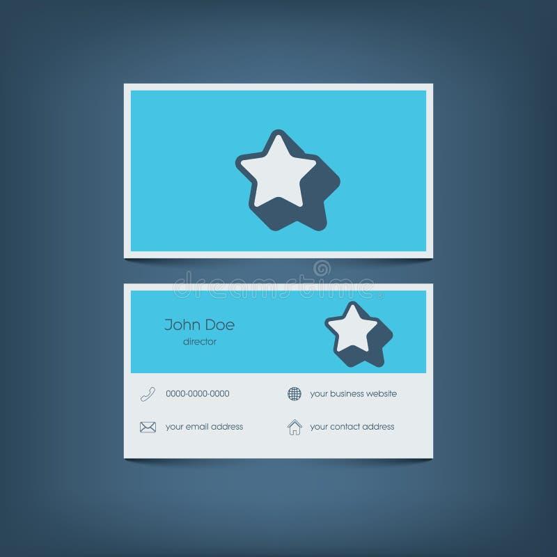 Современный плоский шаблон визитной карточки дизайна график иллюстрация вектора