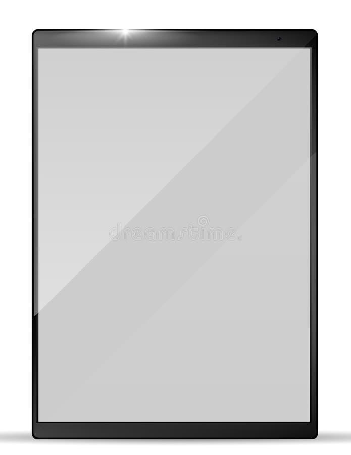 Современный реалистический ПК планшета Модель-макет таблетки также вектор иллюстрации притяжки corel бесплатная иллюстрация