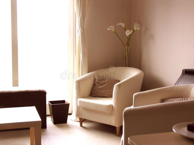 Download современный салон лилий самомоднейший Стоковое Изображение - изображение насчитывающей софа, занавес: 91073