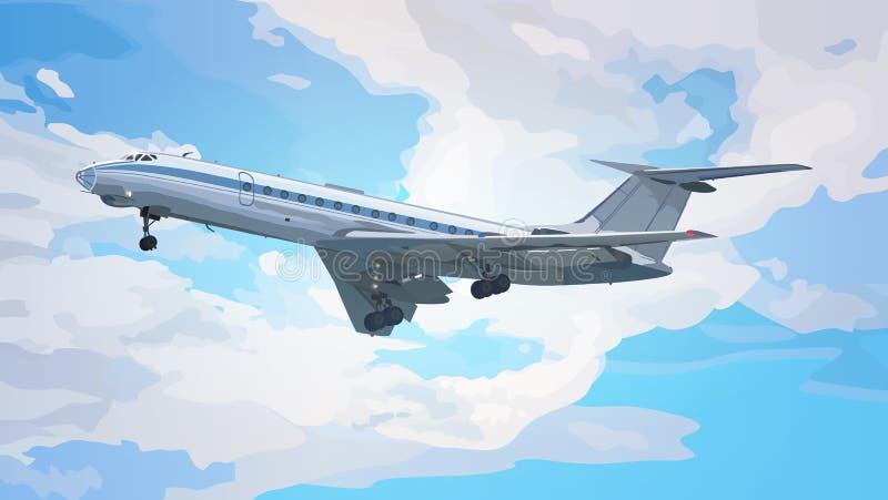 Современный самолет иллюстрация вектора