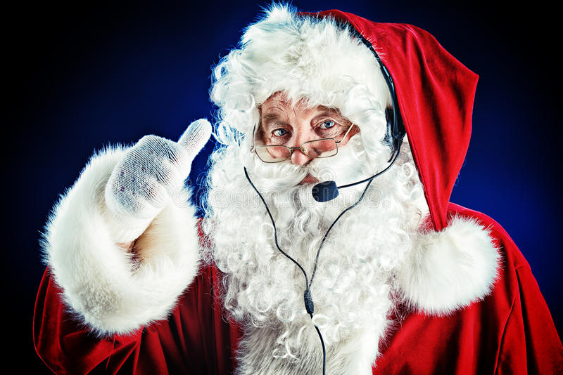 Современный Санта Клаус стоковое изображение