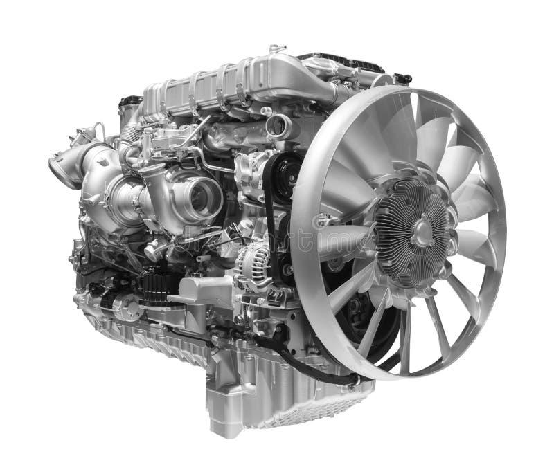 Современный сверхмощный двигатель дизеля тележки стоковые изображения rf