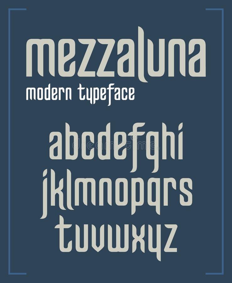 Современный сконденсированный шрифт sanserif минималистский бесплатная иллюстрация