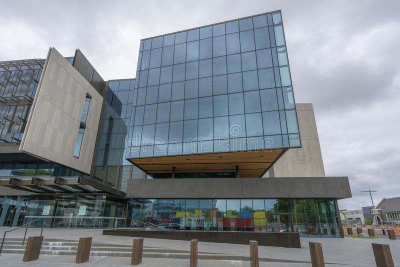 Современный смелейший новый дизайн зданий правительства в Крайстчёрче стоковые фото