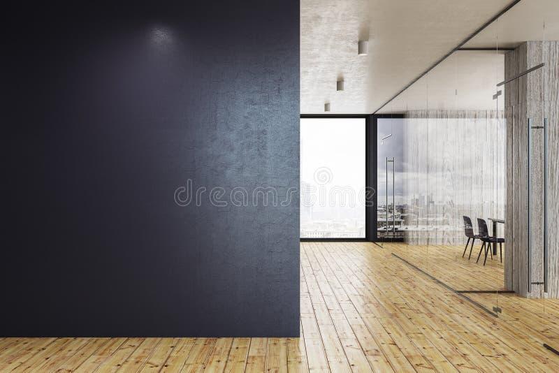 Современный стеклянный коридор с copyspace бесплатная иллюстрация