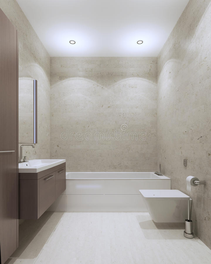 Современный стиль ванной комнаты иллюстрация вектора