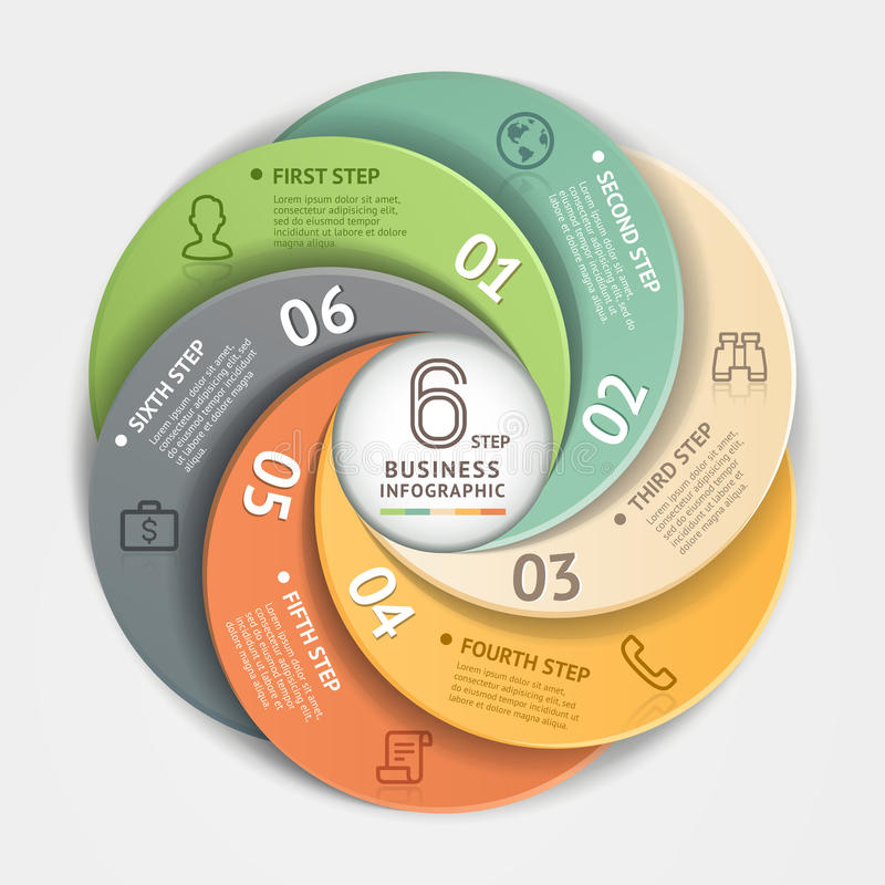 Современный стиль origami Infographics делового круга иллюстрация вектора